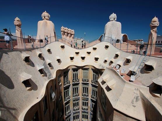 Casa Mila, de Gaudí. Barcelona, Espanha
