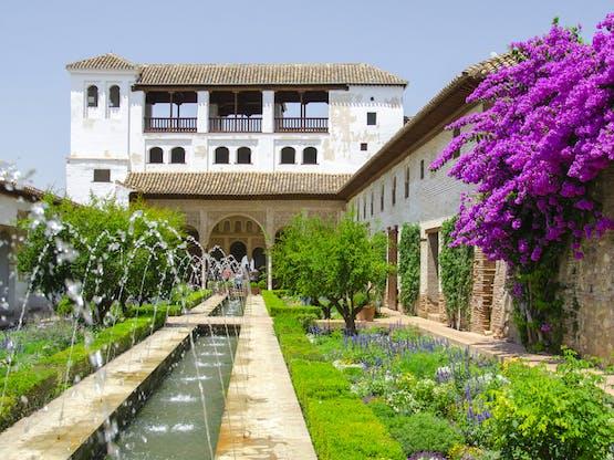 Jardins de Alhambra. Granada, Espanha