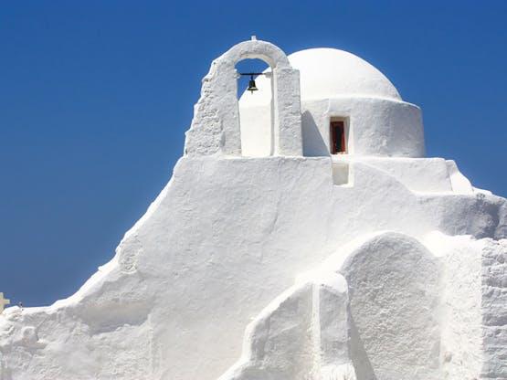 Igreja ortodoxa em Mykonos, Grécia