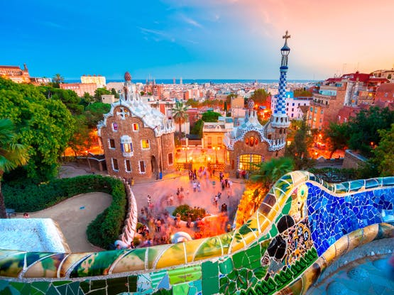 Parque Guell, Barcelona. Espanha