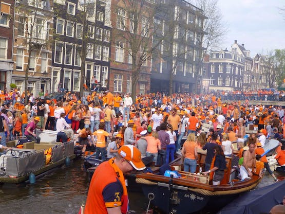 Amsterdã durante o King's Day
