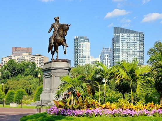 Boston Public Garden. Boston, EUA