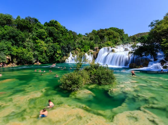 Cachoeiras Krka. Lozovac, Croácia