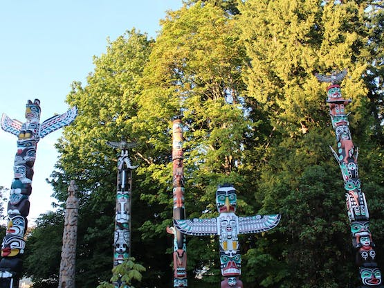 Totems no Stanley Park