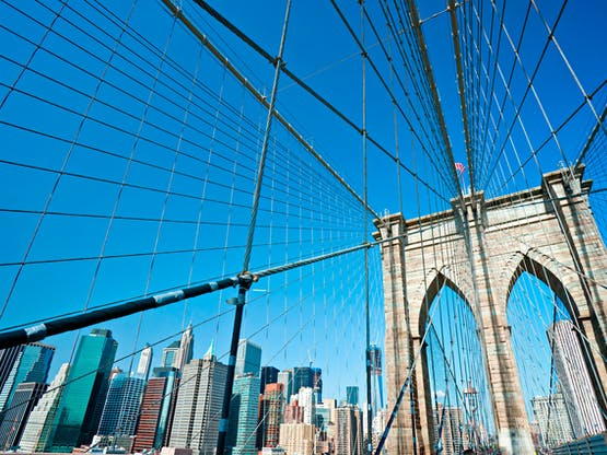 Intercâmbio Estados Unidos - Ponte do Brooklyn. Nova York, EUA
