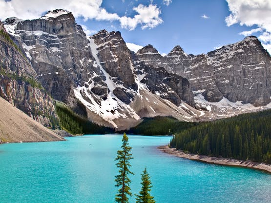 Lago Moraine no Banff National Park