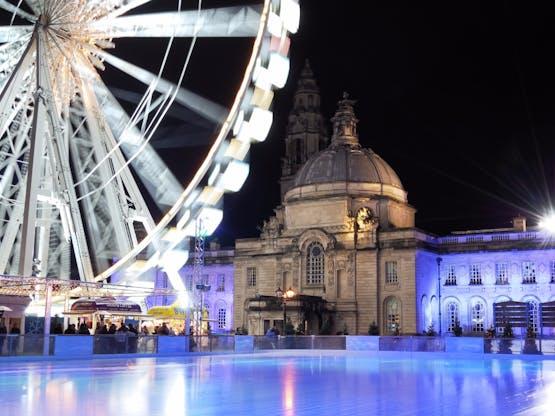 Rinque de patinação. Cardiff, País de Gales