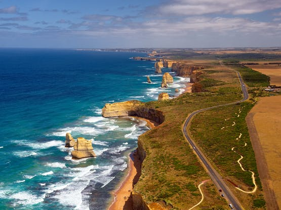 Great Ocean Road e os 12 Apóstolos