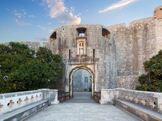 Portão Pile, entrada para a velha cidade de Dubrovnik