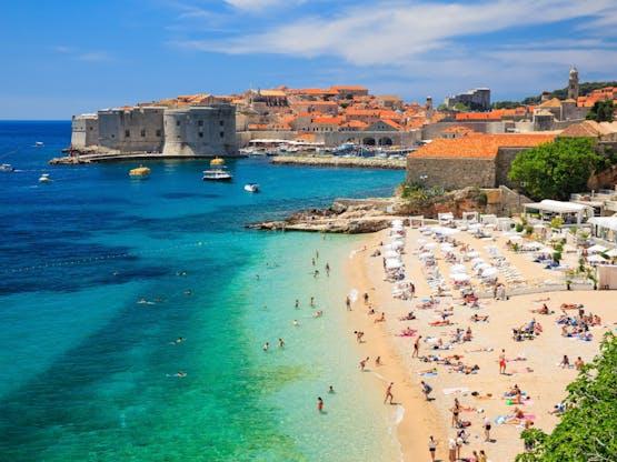 Praia em Dubrovnik