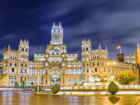 Plaza de Cibeles e o Palacio de Comunicaciones, Madri