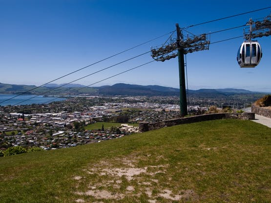 Teleférico em Rotoura, Nova Zelândia