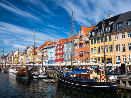 Nyhavn, popular área de Copenhagem