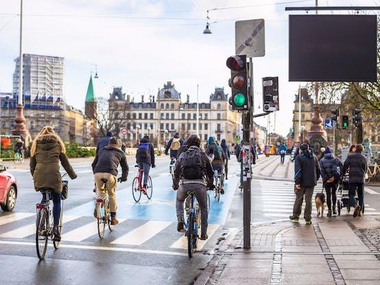Ciclistas em Copenhagem