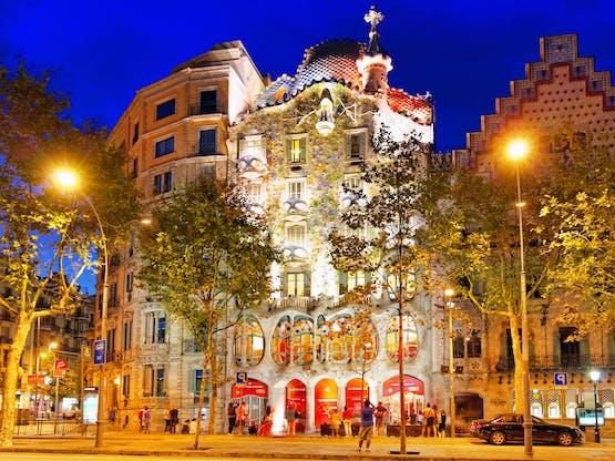 Casa Batlo, criação de Gaudí. Barcelona, Espanha