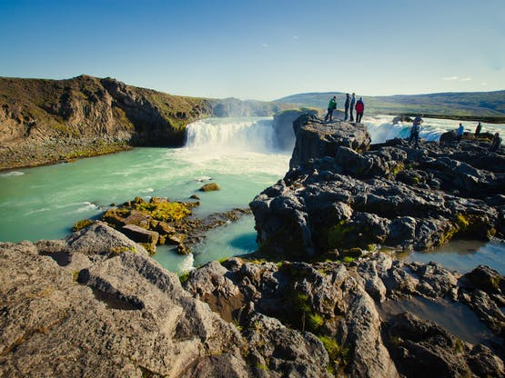 Cachoeiras Gullfoss, Thingvellir National Park. Islândia