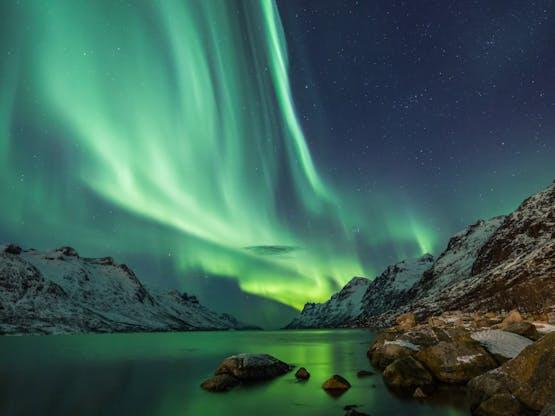 Northern Lights, fenômeno mais conhecido como Aurora Boreal. Islândia