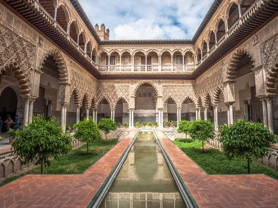 Complexo palaciano Reales Alcázares de Sevilha, Espanha
