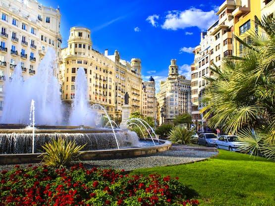 Plaza del Ayuntamiento. Valência, Espanha