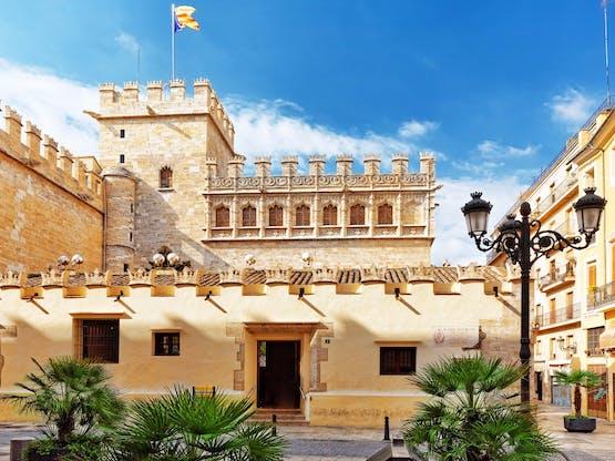 A histórica Lonja de la Seda, que faz parte da lista de Património Mundial da UNESCO. Valência, Espanha