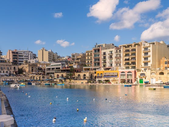 Spinola Bay. St. Julian's, Malta