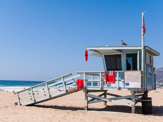 Praia de Malibu. Los Angeles, EUA