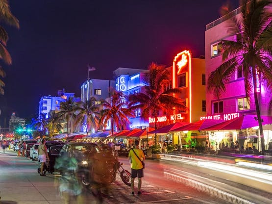 Ocean Drive. Miami, EUA