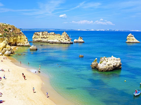 Praia em Lagos, Portugal