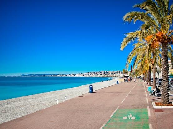 Calçadão Promenade des Anglais. Nice, França
