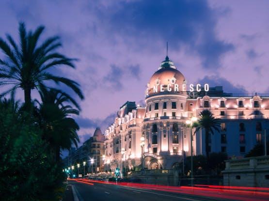 Famoso Hotel Negresco. Nice, França