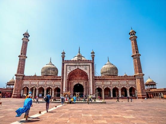 Jama Masjid, a maior mesquita do país. Nova Déli, Índia