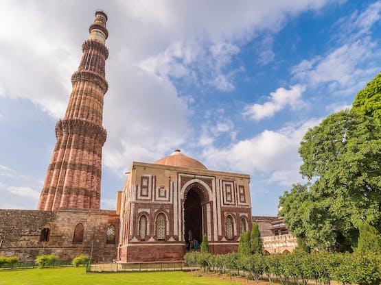 Torre Qutub Minar. Nova Déli, Índia