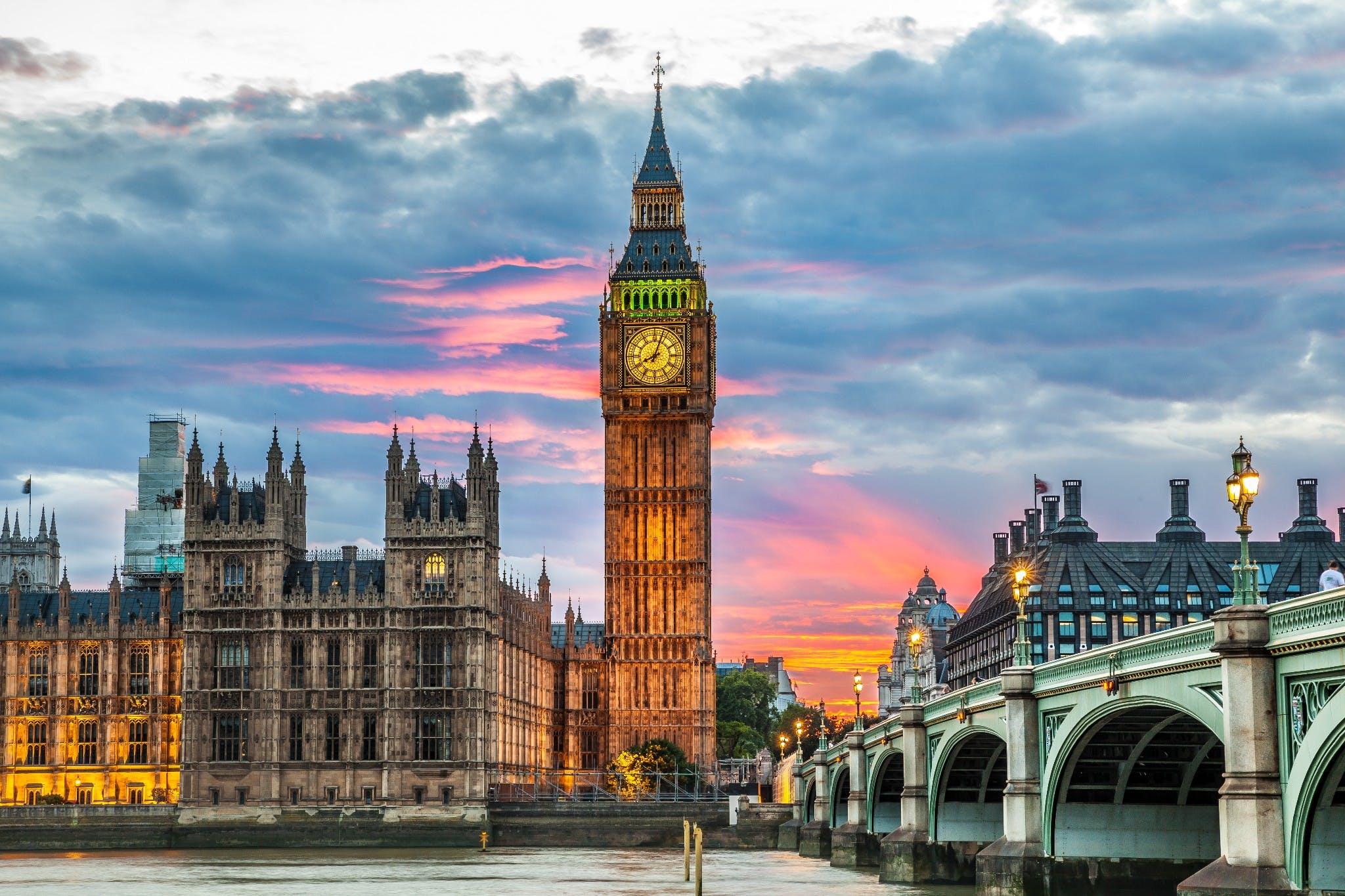 Vista del Big Ben de Londres en Inglaterra
