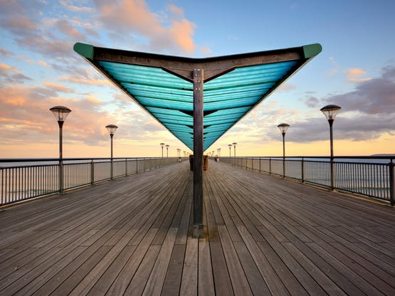 Boscombe Pier. Bournemouth, Inglaterra