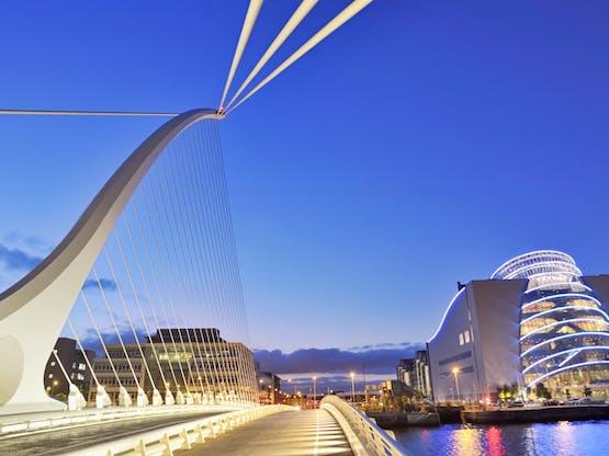 Intercâmbio Dublin - Ponte Samuel Beckett. Dublin, Irlanda