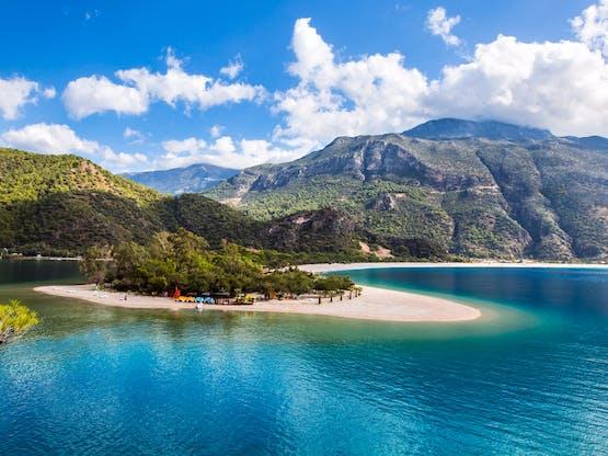 Praia de Oludeniz. Fethiye, Turquia