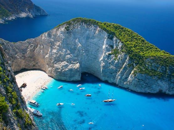 Praia Navagio. Zakynthos Island, Grécia