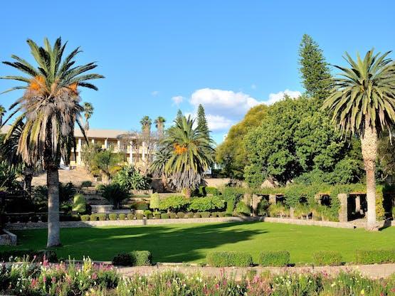 Parlamento, chamado de Tintenpalast (ou Ink Palace). Windhoek, Namíbia