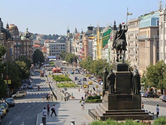 Praça Wenceslas. Praga, República Tcheca