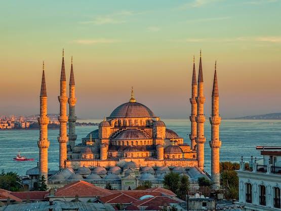 Mesquita Azul (ou Mesquita do Sultão Ahmed). Istambul, Turquia