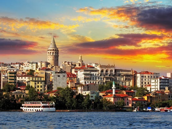 Bairro de Galata. Istambul, Turquia
