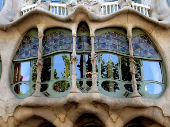 Detalhes da Casa Batlló. Barcelona, Espanha