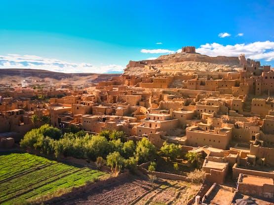 Cidade fortificada Aït Benhaddou, Marrocos