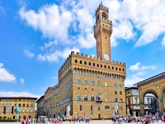 Piazza della Signoria e Palazzo Vecchio. Florença, Itália