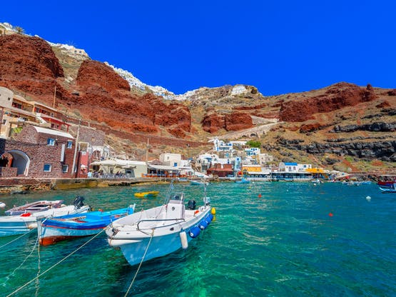Ammoudi village. Santorini, Grécia