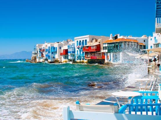 Little Venice em Mykonos, Grécia