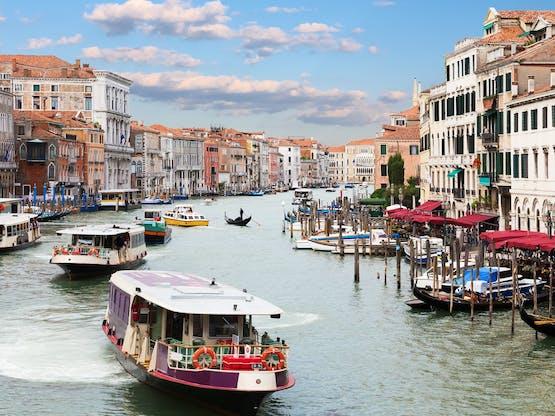 Grand Canal em Veneza, Itália
