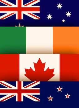 Batalha dos Destinos: Irlanda x Canadá x Austrália x  Nova Zelândia
