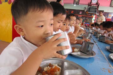Monk Teaching Volunteering