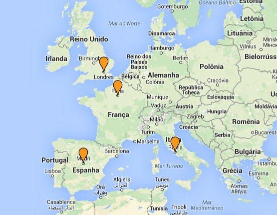 Mochilão® Capitais da Europa